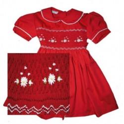 Robe smock rouge