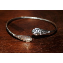 Bracelet en argent serpent
